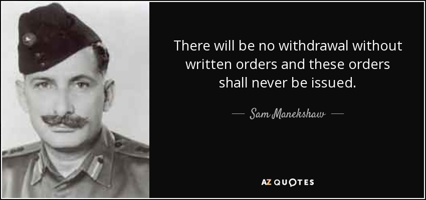 Manekshaw quotes