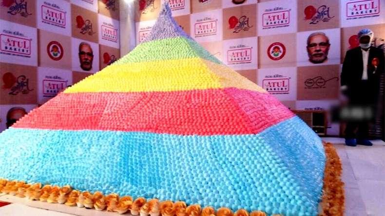 PM Modi's 66th Birthday Cake to Break Guinness World Record