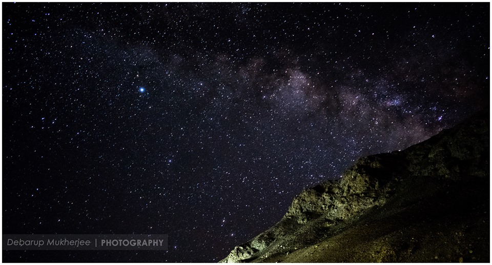 milky way from tsomoriri