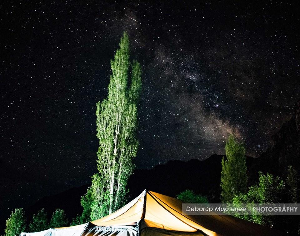 night sky ladakh