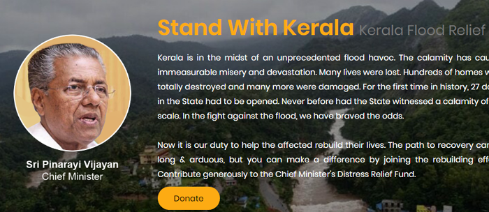 CMDRF Kerala Flood donation