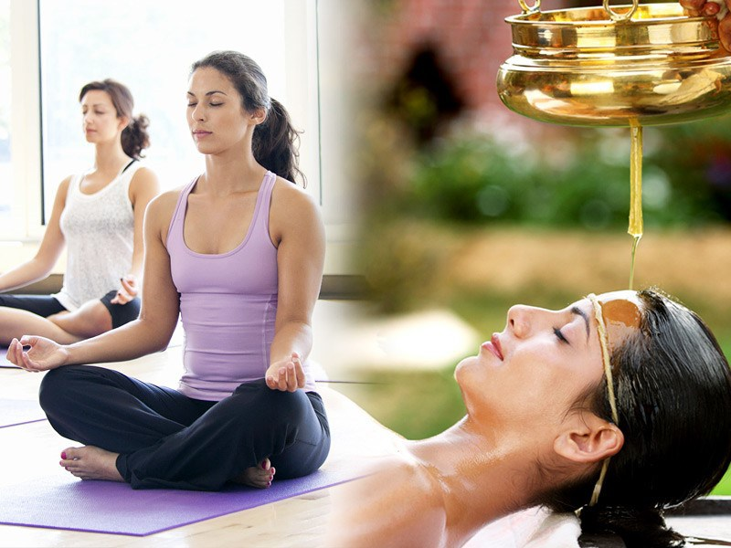 Yoga and Ayurveda session in India