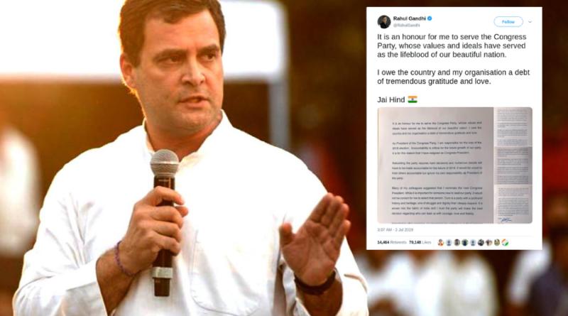 Rahul Gandhi Resigns