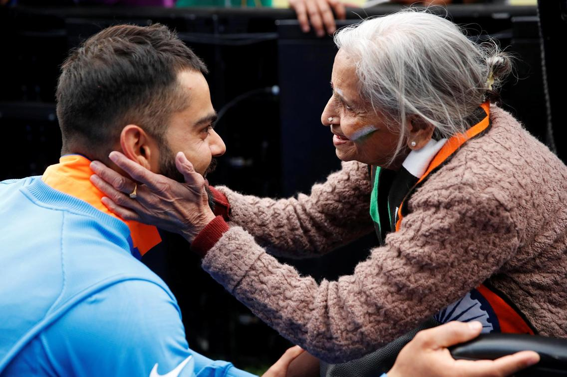 87-Year Old Charulata Patel Steals Heart at the India Vs Bangladesh Match