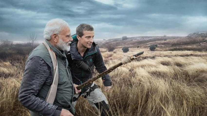 PM Modi with Bear Grylls in Discovery's Man Vs Wild Show to Create Awareness on Animal Conservation