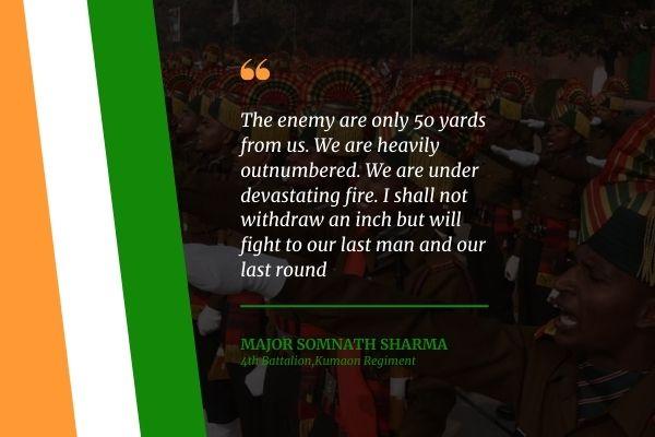 Major Som Nath Sharma Quotes