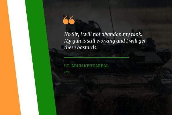 Lt. Arun Kehtarpal Army Quotes
