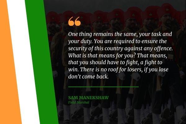 Sam Manekshaw Army quotes