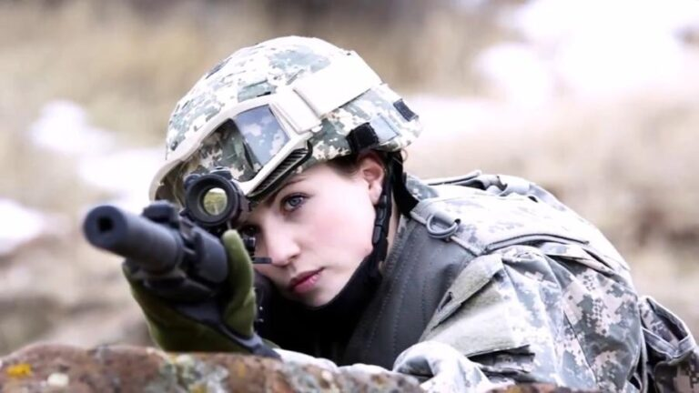 female armed force